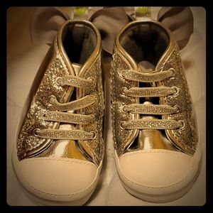 First Steps 9-12 months shiny sparkly baby shoes